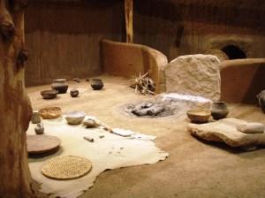 Inside a pit house