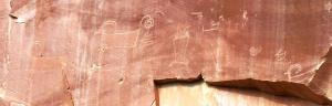 Petroglyph of bighorn sheep?