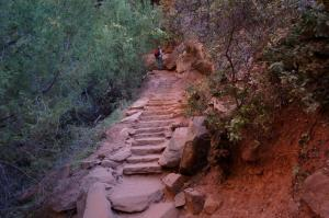 Steps on trail to Middle Emerald Pool