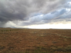 Storm clouds on our way home from Hovenweep