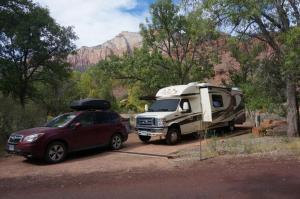 Campsite in Watchman Campground
