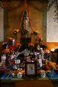 Temporary altar for Day of the Dead
