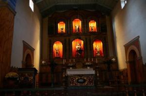 Altar in mission church