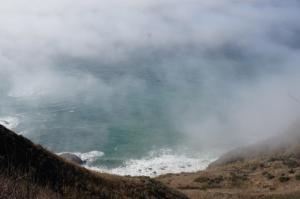 The Ocean peeks out far below