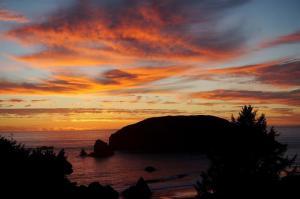 Harris Beach sunset