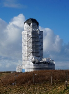 Lighthouse under wraps