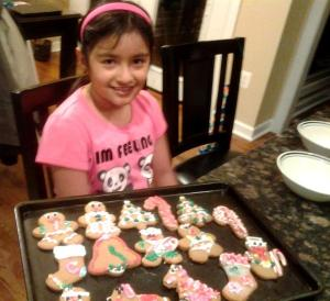 Gingerbread cookies ready to eat