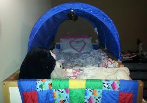 Chloe's bed