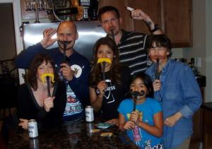 Moustache Smash family photo