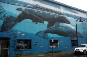 Wyland Whale Wall #59 on Depoe Bay Fish Company