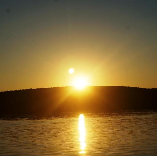Sunset over the Apostle Islands