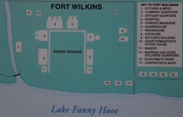 Map of Fort Wilkins
