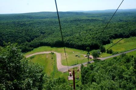 View from ski lift over first rise