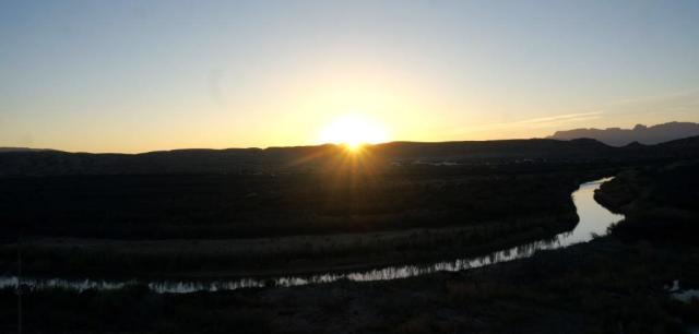 Sunset over Rio Grande